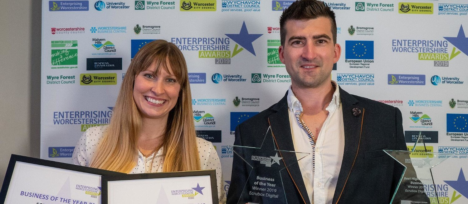 Ecrubox Digital celebrate double win at the Enterprising Worcestershire Awards 12