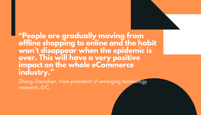 Quote about PPC during pandemic Zhong Zhenshan, Vice-president of emerging technology research, IDC.